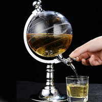 ディスペンサー ビール ワイン ジュース 地球儀型 バー 飲食店 業務用 アルコール キッチン シングルキャニスターポンプ おしゃれ