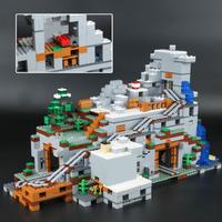 レゴ互換 マインクラフト 山の洞窟 21137 互換品 ブロックセット LEGO風 知育玩具 2304ピース