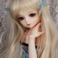 球体関節人形 美しい 1/4 本体+眼球+メイクアップ済み BJD カスタムドール 美少女 可愛い ホワイト ノーマル 選べる2色