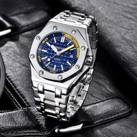 BENYAR 腕時計 防水 メンズ ステンレスベルト 日付表示 クォーツ 発光針 耐衝撃性 海外高級ブランド 選べる2色
