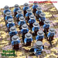 レゴ互換 フランス軍 ミニフィグ 21体 特殊部隊 武器 第二次世界大戦 銃 軍隊 兵士 兵隊 戦争 WW2 ブロックセット LEGO風
