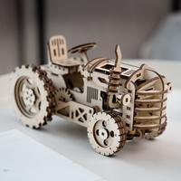 【ROBOTIME】 トラクター LK401 3D立体パズル DIY 木製プラモデル 車 乗り物 組み立てキット 自作 組み立て簡単 【入手困難】