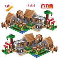 レゴ互換 マインクラフト2016 ザ・ヴィレッジ The Village 21128 マイクラ LEGO風 ブロックセット