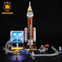 【LEDライトキット】 超巨大ロケットと指令本部 60228 レゴ互換 【ライトアップセット】