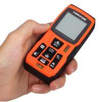 LOMVUM レーザー距離計 最大距離 60m ポケットサイズ IP54 防水 デジタル ファインダー バッテリー駆動 DIY 業務用 高性能 持ち運び便利 おすすめ 人気