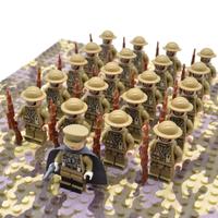 レゴ互換 Af-UK軍隊 ミニフィグ 50体 武器 特殊部隊 戦争 第二次世界大戦 WW2 銃 軍隊 兵士 兵隊 LEGO風 ブロックセット