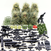 レゴ特殊部隊 ミニフィグ ギリースーツ LEGO互換 SWAT 迷彩服 セット カモフラ スワット 戦争 銃 マシンガン ナイフ 武器大量 陸軍 軍隊 兵士 兵隊