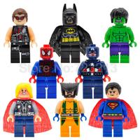 レゴ互換 アベンジャーズ ミニフィグ 8体セット ホークアイ スパイダーマン バットマン ハルク スーパーマン ブロックセット LEGO風