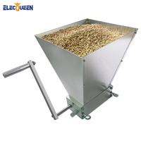 ELECQUEEN 粉砕機 手動 2ローラー 麦芽 麦 大麦 穀類 業務用 家庭用 おすすめ ステンレス 製粉機 ミル グラインダー 穀物 粉末ミル フードプロセッサー