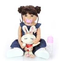 ベビードール 女の子 リボーンドール 本体+服+ウィッグ+おもちゃ付き トドラー人形 リアル 可愛い 55cm