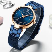 MINIFOCUS 腕時計 レディース 防水 薄い ステンレスバンド クォーツ シンプル 海外高級ブランド 人気 選べる5色