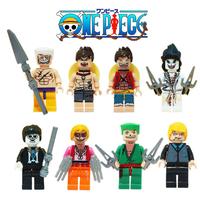 レゴ互換 ワンピース ミニフィグ 8体セット ルフィ ゾロ サンジ エース 白ひげ ONE PIECE フィギュア LEGO風 豪華セット★
