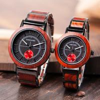ボボバード 木製腕時計 2点セット メンズ レディース ペアウォッチ 木製ギフトボックス付き BOBO BIRD 海外トップブランド 木の温もり 人気 赤 R12 R13 プレゼントにも★