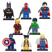 レゴ互換 アイアンマン ハルク スパイダーマン キャプテンアメリカ バットマン アベンジャーズ スーパーヒーロー フィギュア 8体