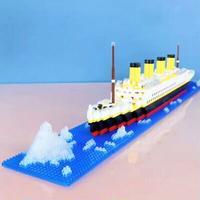 【レゴ互換】タイタニック号+氷山 豪華客船 ブロックセット【LEGO風】