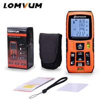 LOMVUM レーザー距離計 最大距離 100m小型 IP54 防水 デジタル ファインダー ポケットサイズ コンパクト バッテリー駆動 DIY 業務用 安い 高性能 人気