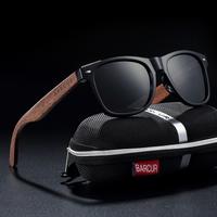 【黒くるみ製】 BARCUR 木製サングラス ユニセックス 希少 偏光 UV400 スクエア ポラロイド 旅行 アウトドア BC8700 男女兼用 天然素材のぬくもり 【選べる3色】