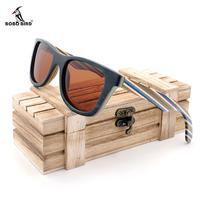 BOBO BIRD サングラス UV400 紫外線99% カット 偏光レンズ  レディース メンズ 木製フレーム ファッション 釣り アウトドア 運転用にも スタイリッシュ かっこいい 選べる4色