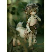 球体関節人形 ケンタウロス BJD 1/6 本体+眼球+メイクアップ済み カスタムドール 動物 伝説 小さい かわいい 選べる4色