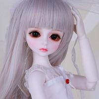 球体関節人形 BJD フルセット 1/4 美少女 本体+眼球+服+靴+ウィッグ メイクアップ済み カスタムドール 美しい 白い衣装 41cm 選べる2色