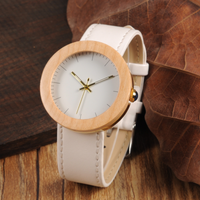 エレガント バンブーウォッチ レディース ボボバード 木製腕時計 木+ステンレス 革ベルト 白 クォーツ BOBO BIRD J27 J28 竹 カエデ 選べる2つの素材