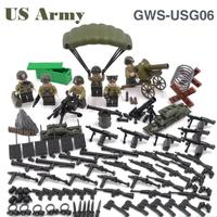 レゴ特殊部隊 アメリカ軍 レゴ互換 戦争 兵士 兵隊 銃 爆弾 パラシュート ナイフ ミリタリー ミニフィグ 8体 米軍 LEGO風 ブロック セット 知育