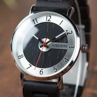 ボボバード 木製腕時計 スタイリッシュ おしゃれ ユニセックス レディース メンズ クォーツ ギフトボックス付き 黒 白 選べる2色 Q23