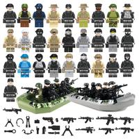 レゴ特殊部隊 レゴ互換品 ボート 船 軍隊 兵隊 兵士 銃 ナイフ 武器 ミニフィグ ミリタリー LEGO風 ブロックセット