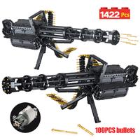 レゴ互換 銃 ガトリング 弾が飛び出す モーター付き 武器 戦争 特殊部隊 軍隊 兵隊 ミリタリー LEGO風 ブロックセット 83cm