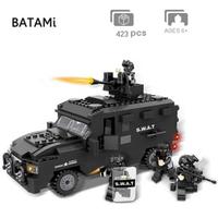 レゴ特殊部隊 車両 SWAT スワットセット レゴ互換 装甲車 軍用車 重装備 盾 シールド 銃 LEGO風 ミニフィグ付き ブロックセット