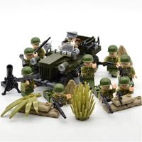 【レゴアメリカ軍】 兵士ミニフィグ10体+車両+武器 レゴ互換 【戦争】