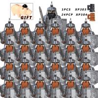 【レゴ互換】 中世の戦士 ミニフィグ24+1体 ドワーフ ストロングオーク エルフ 騎士 【レゴ風】
