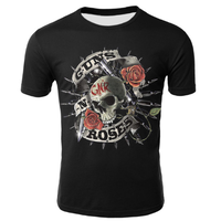 ガンズ・アンド・ローゼズ Tシャツ 半袖 3Dプリント グッズ Guns N Roses 服 メンズ kid1~4XL 選べる12サイズ