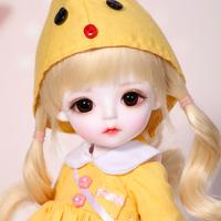 球体関節人形 BJD フルセット 1/6 女の子 本体+眼球+服+靴+ウィッグ メイクアップ済み カスタムドール かわいい 美少女 黄色い衣装 26cm 選べる2色