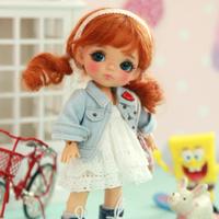 球体関節人形 美少女BJD 1/8 本体+眼球+メイクアップ済み カスタムドール かわいい 小さい ミニ 選べる6色