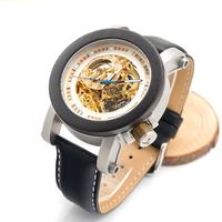 ボボバード スケルトン 木製腕時計 メンズ BOBO BIRD 機械式 自動巻き 革ベルト スチームパンク アンティーク 人気 K11