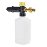 フォームガン 洗車 0.6Lボトル Elitech用用 調整可能 泡立ち良好 ノズル スノーフォームランス 泡発生機 洗車ノズル 高圧洗浄機 ウォッシュガン 泡洗浄機  おすすめ 人気