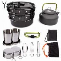 【クッカーセット】アウトドア 鍋+フライパン+ケトル+マグカップなど ファミリー 調理器具【キャンプ】