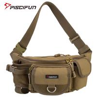 【Piscifun】 ウエストバッグ 釣りバッグ 多機能 ヒップ 収納 ナイロン製 アウトドア 釣り具入れ 選べる3色 【軽量】