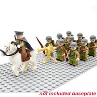 レゴ アメリカ軍 ミニフィグ10体+馬+機関銃+ライフル+バックパック レゴ互換品 特殊部隊 軍隊 兵士 兵隊 戦争 第二次世界大戦 WW2 LEGO風 知育玩具