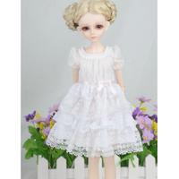 球体関節人形 BJD ドレス 白 服 涼しけ 清潔感溢れる カスタムドール 衣装 ホワイト 1/3 1/4 1/6 選べる3サイズ