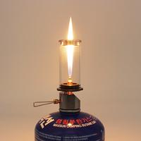 キャンドルランプ ポータブル キャンプ ランタン アウトドア ガス 調節可能 軽量 良い雰囲気
