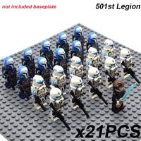 レゴ互換 スターウォーズ ミニフィグ 501大隊 21体 クローン トルーパー ライトセーバー 人形 グッズ おもちゃ LEGO風 ブロックセット