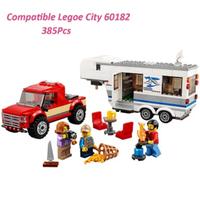 レゴ互換 シティ キャンプバンとピックアップトラック 60182 車 乗り物 ミニフィグ付き LEGO風 ブロックセット