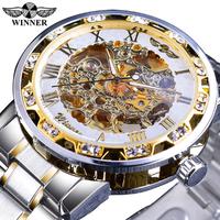 WINNER 腕時計 レトロ ロイヤル 機械式 スケルトン メンズ 発光 高級感溢れるデザイン