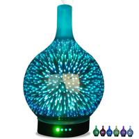 加湿器 超音波式 アロマ ディフューザー 100ml 壺型 LED 寝室 美容 美肌 コンパクト おしゃれ インテリア
