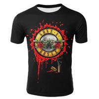 ガンズ・アンド・ローゼズ Tシャツ 半袖 メンズ Guns N Roses グッズ ロックバンド かっこいい 黒 kid1~4XL 選べる12サイズ