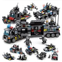 プレイモービル 特殊部隊 船 スワット ヘリコプター 警察 トラック SWAT 車両 ブロックセット 知育玩具
