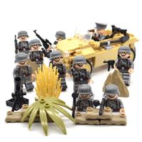 【レゴドイツ軍】 兵士ミニフィグ10体+車両+武器 第二次世界大戦 【レゴ互換】