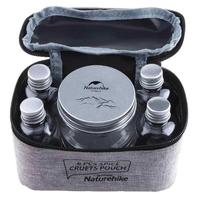 調味料ボトルセット スパイス ハーブ 瓶ケース 軽量 コンパクト 収納ポーチ付き アウトドア キャンプ バーベキュー ピクニック ハイキング